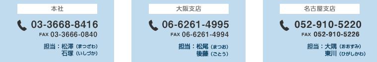 お問い合せ先電話番号